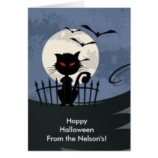 ¡Gato de Scaaary Halloween! Felicitación