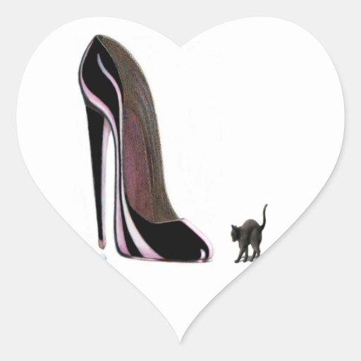 Gato de Scardey y pegatina negro del corazón del