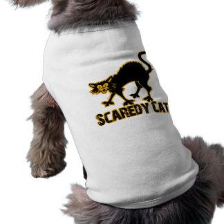 Gato de Scaredy Playera Sin Mangas Para Perro