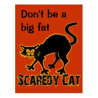 Gato de Scaredy Postal