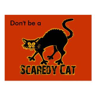 Gato de Scaredy Postales