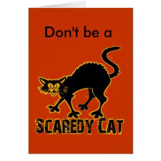 Gato de Scaredy Tarjeton