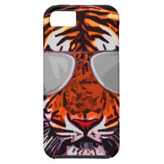 gato de selva fresco redondo iPhone 5 funda