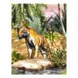 Gato de selva membrete a diseño