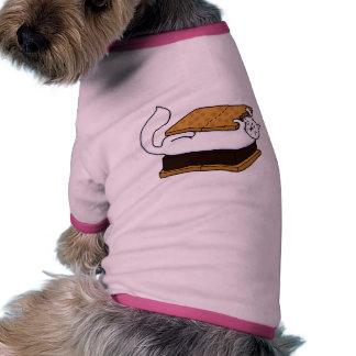 Gato de S'mores Camisas De Mascota