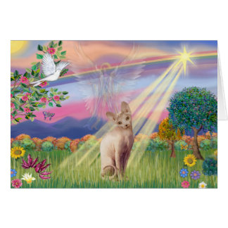 Gato de Sphynx - ángel de la nube Tarjeta De Felicitación