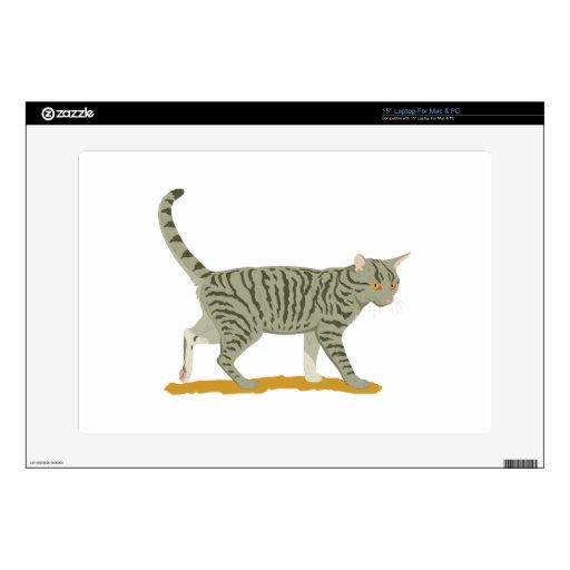 Gato de Tabby 38,1cm Portátil Calcomanía