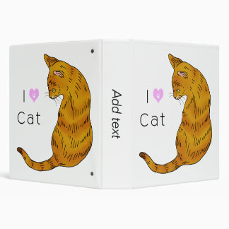"Gato de tabby amarillo (ojos del amarillo) carpeta 1 1/2"""