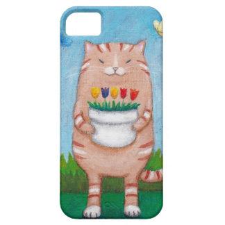 Gato de Tabby anaranjado con el caso del iPhone de iPhone 5 Case-Mate Cobertura