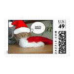 Gato de Tabby anaranjado del navidad Franqueo