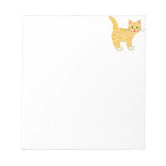 Gato de Tabby anaranjado del tigre Blocs De Notas