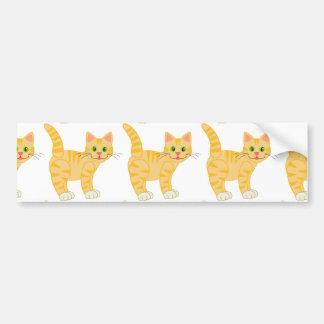 Gato de Tabby anaranjado del tigre Pegatina Para Auto