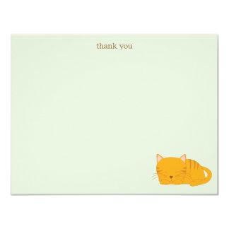 Gato de Tabby anaranjado el dormir Invitación 10,8 X 13,9 Cm