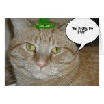 Gato de Tabby anaranjado Felicitaciones