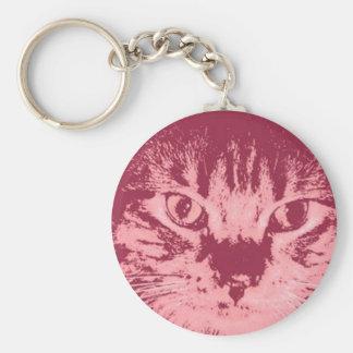 Gato de Tabby anaranjado Llaveros Personalizados