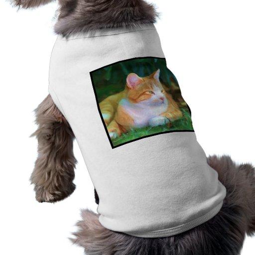 Gato de Tabby anaranjado Camisetas De Perrito