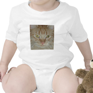 Gato de Tabby anaranjado Traje De Bebé