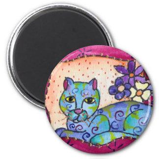 Gato de Tabby azul Imán Para Frigorifico