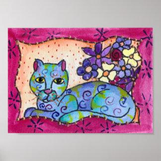 Gato de Tabby azul Posters
