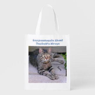 Gato de Tabby de Brown Bolsa Para La Compra