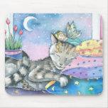 Gato de Tabby de hadas Mousepad por Molly Harrison Tapete De Ratones