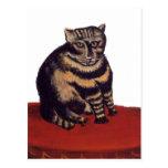 Gato de Tabby de Henri Rousseau Postales