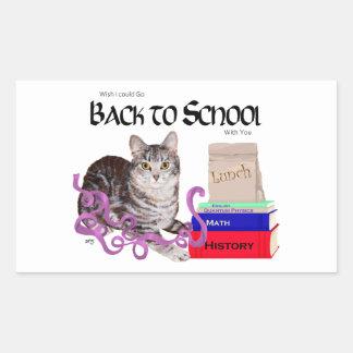 Gato de Tabby de nuevo a escuela Rectangular Altavoces