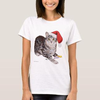Gato de Tabby de Shorthair del americano - navidad Playera