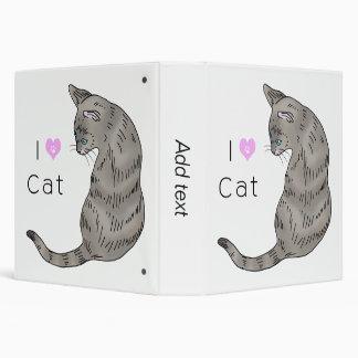 """gato de tabby gris (ojos azules) carpeta 1 1/2"""""""