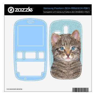Gato de Tabby gris Samsung Freeform Calcomanías