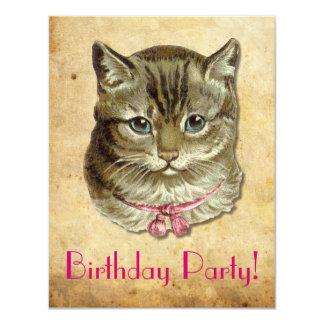 """Gato de Tabby Invitación 4.25"""" X 5.5"""""""