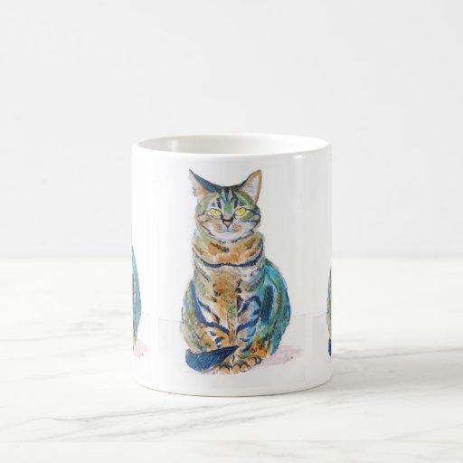 Gato de Tabby lindo Taza De Café