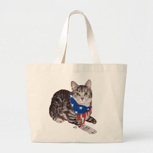 Gato de Tabby patriótico de Shorthair del american Bolsa Lienzo