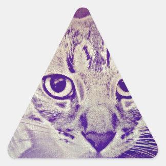 Gato de Tabby Calcomanía Triangulo Personalizadas