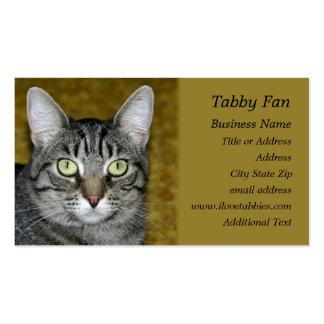 Gato de Tabby - tarjeta de visita de la foto
