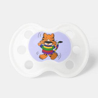 Gato de tigre del baile chupete de bebé