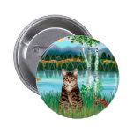 Gato de tigre del Tabby - abedules Pin