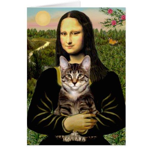 Gato de tigre del Tabby de Mona Lisa - de Brown Felicitacion