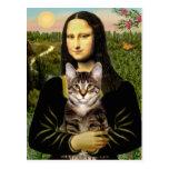 Gato de tigre del Tabby de Mona Lisa - de Brown Postal