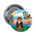 Gato de tigre del Tabby - vida brillante Pin