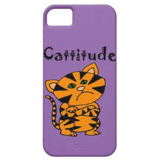 Gato de tigre divertido con Atitude Funda Para iPhone SE/5/5s