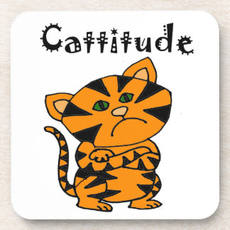 Gato de tigre divertido con Atitude Posavaso