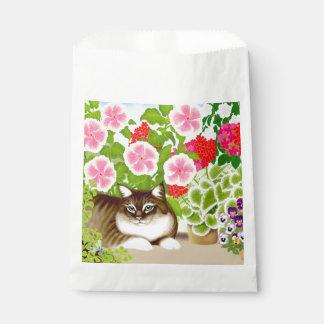 Gato de tigre en bolsos del favor de fiesta de la