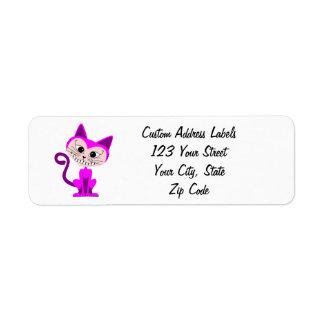 Gato de Toon Cheshire - Alicia en el país de las m Etiquetas De Remite