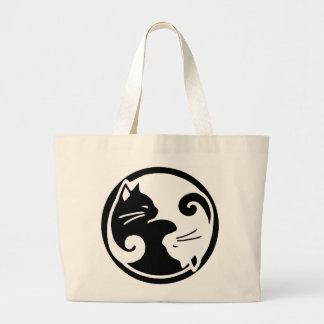 Gato de Yin Yang Tao de la bolsa de asas del maull