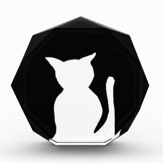 Gato - decoración blanco y negro del arte de la si