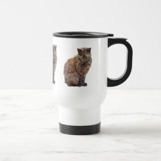 Gato del abrigo de pieles tazas de café