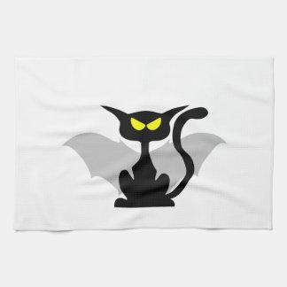 Gato del ala del palo toallas de cocina