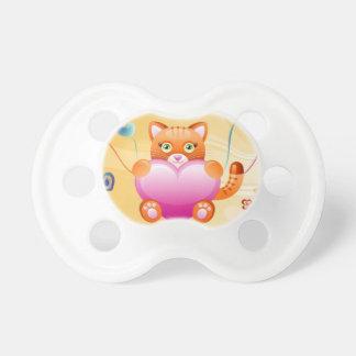 Gato del amor chupetes de bebe
