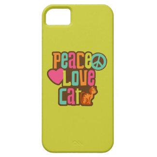 Gato del amor de la paz iPhone 5 fundas